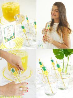 Party Like a Pineapple Birthday Bar & Drinsk Station - BirdsParty.com