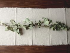 a daily something: diy | canvas drop cloth table runner, love the frayed look and the branches...