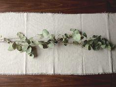 Canvas Drop Cloth Table Runner