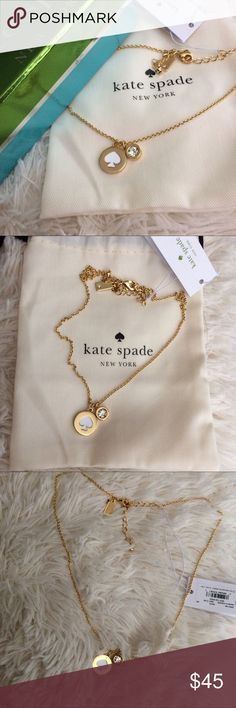 "Kate Spade necklace Super cute Kate Spade dainty necklace!  So stylish and versatile.  Length for wearing goes approx from 16""-19"".  Brand new in pouch and box! kate spade Jewelry Necklaces"