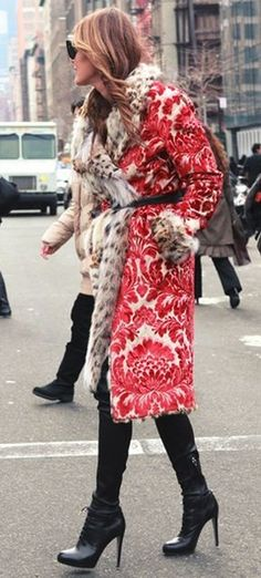 Red and white wild coat