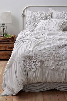 soft petals of fabric, white on white, dreamy and romantic