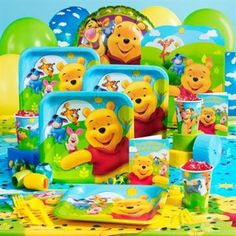 Pooh's Happy Days Birthday Party Theme - http://1stbirthdaypartytheme.com/poohs-happy-days-birthday-party-theme.html