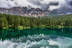 Carezza Lake - Val d'Ega, Dolomiti, Italy.