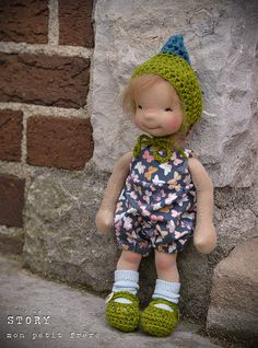 """Story- 9"""" natural fiber art doll by Mon Petit Frere   Flickr"""