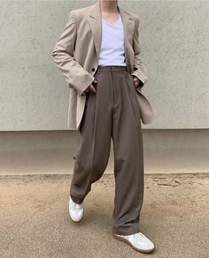 Teen Fashion Outfits, Retro Outfits, Cute Casual Outfits, Vintage Outfits, Aesthetic Fashion, Look Fashion, Aesthetic Clothes, 40s Mens Fashion, Fashion Fall