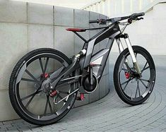 Audi has officially unveiled its 'Wörthersee' performance electric bike for sports and trick cycling. Using technology from Audi cars, the 'Wörthersee' electric bike Best Electric Bikes, Electric Bicycle, Electric Motor, Velo Design, Bicycle Design, Motorcycle Design, Bmx, Photo Velo, Bike Photo