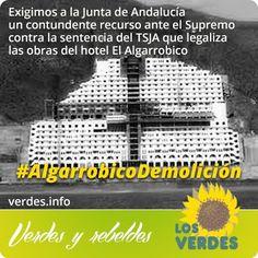 Los Verdes exigen a la Junta de Andalucía un contundente recurso ante el Supremo contra la sentencia del TSJA que legaliza las obras del hot...
