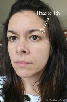 Look straight ahead in the mirror, relax your eyebrows. Can you see your eyelid? I can't...
