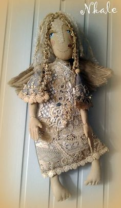 Diy Angels, Handmade Angels, Ugly Dolls, Monster Dolls, Textiles, Small Sculptures, Sewing Dolls, Sacred Art, Fabric Art