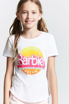 Girls Barbie Graphic Tee (Kids)   Forever 21 Girls Dresses Tween, Cute Girl Dresses, Kids Outfits Girls, Cute Girl Outfits, Preteen Fashion, Kids Fashion, Fashion Outfits, Women's Fashion, Barbie
