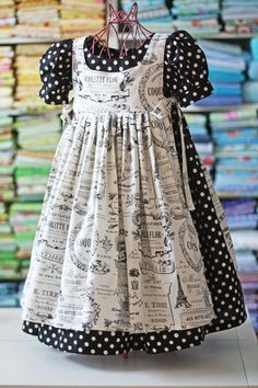 """Dress Pattern """"Olabelhe: Beautiful patterns at this site Schürze!"""", """"Dawn, every time I see your new dress pattern Im convinced you cant make one cuter! Little Dresses, Little Girl Dresses, Girl Doll Clothes, Sewing Clothes, Sewing Dolls, Dress Sewing, Kids Outfits, Baby Outfits, Baby Sewing"""