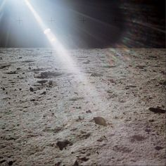Lunar Surface - inspiration for the mural, love the sunflare.