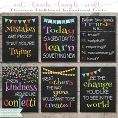 Throw Kindness Around Like Confetti Classroom Chalkboard School Bulletin Boards, School Classroom, Classroom Themes, Classroom Organization, Classroom Routines, Classroom Signs, Classroom Resources, Chalkboard Classroom, Chalkboard Print