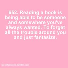 I love getting lost in a good book <3