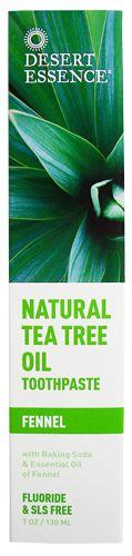 Natural Tea Tree Oil Toothpaste — Fennel