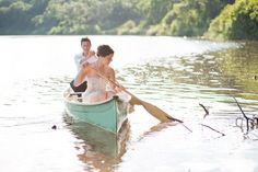 Canoeing together, aw :P