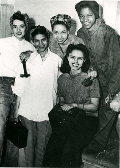 World War II women workers, 1940s, such beautiful young women