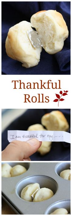 Thankful Rolls - a fun way to liven up the conversation at the Thanksgiving table. the-girl-who-ate-...