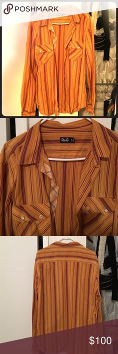 D&G collared shirt Size 56 Dolce & Gabbana Shirts Casual Button Down Shirts