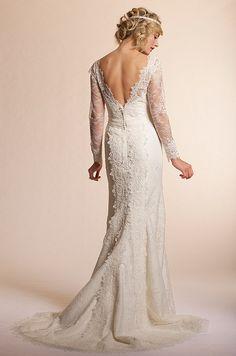 Vintage-style wedding dress from Amy Kuschel, 2013. I will have a vintage wedding dress. 1940's era. GLAM.