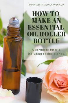 How to Make an Essential Oil Roller Bottle including Blend Recipes One of the main benefits of essential oil rollers is that they help your essential oils work in as litt. Diluting Essential Oils, Helichrysum Essential Oil, Essential Oils For Headaches, Essential Oils For Sleep, Doterra Essential Oils, Sleeping Essential Oil Blends, Essential Oil Roll Ons, Essential Oil Carrier Oils, Making Essential Oils