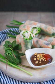 Gỏi Cuốn - vietnamese Summerrolls / vietnamesische Sommerrollen