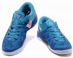 http://www.asneakers4u.com Nike Kobe 8 System Basketball Shoe Snake Blue/White3
