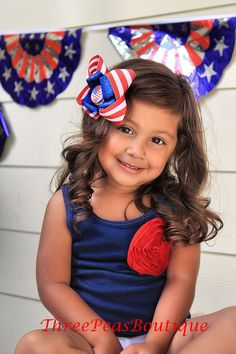 I Heart America Bottle Cap Bow by threepeasboutique on Etsy, $7.00
