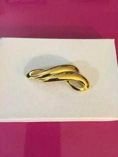 Gold Tone Bars Brooch by Trifari