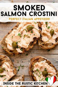 Italian Appetizers, Appetizer Recipes, Smoked Salmon Pate, Italian Soup Recipes, Lemon Salmon, Caper Berries, A Food, Food Processor Recipes, Super Easy