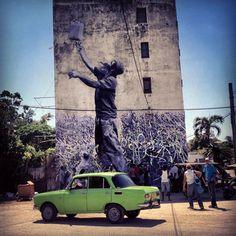 José Parlá x JR – Wrinkles of the City @ Havana, Cuba