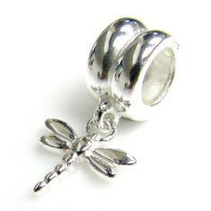 .925 Sterling Silver Dragonfly Dangle Pendant Bead For Pandora, Troll Chamilia Biagi European Story Charm Bracelets Dreambell http://www.amazon.com/dp/B00C97QRI6/ref=cm_sw_r_pi_dp_CZ--tb16T9BMW