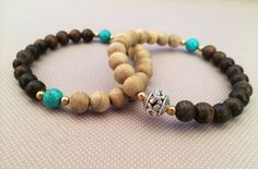 Agarwood and Turquoise Bracelet-The Yin-Yang Balance – Grandawood- Agarwood Australia
