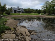 Contemporary residence with large opens spaces and mezzanines on the shore of Kenmare Bay in Ireland. Simple Style, Architects, Ireland, House Design, Spaces, Contemporary, Mansions, House Styles, Home