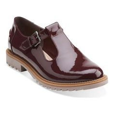 Clarks // Griffin Monty Burgundy Patent Leather