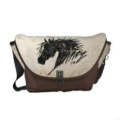 Abstract Horse Head art Courier Bags