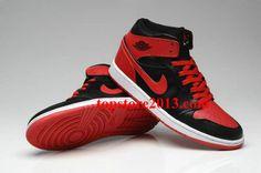 Air Jordan 1 Phat Black/Varsity Red     #Red  #Womens #Sneakers