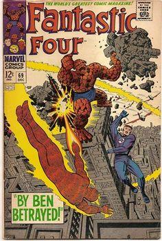 SILVER AGE 1967 FANTASTIC FOUR # 69 MARVEL COMICS LOOK!