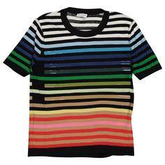 Buy your silk t-shirt Sonia Rykiel on Vestiaire Collective, the luxury consignment store online. Second-hand Silk t-shirt Sonia Rykiel Multicolour in Silk available. Sonia Rykiel, Silk T Shirt, Tee Shirts, Tees, Plexus Products, Silk Top, Short Sleeves, Couture, Clothes For Women