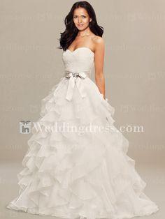Trendy Unusual Wedding Dress with Ruffled Skirt DE