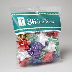 Pack of 36 Christmas Star Bows. Peel-n-stick. - - Pack of 36 Christmas Star Bows. Peel-n-stick. Pack of 36 Christmas Star Bows. Peel-n-stick. Gift Wrapping Bows, Gift Wrapping Supplies, Gift Bows, Wrapping Presents, Christmas Tree Bows, Xmas Ornaments, Xmas Tree, Christmas Holiday, Christmas Ideas