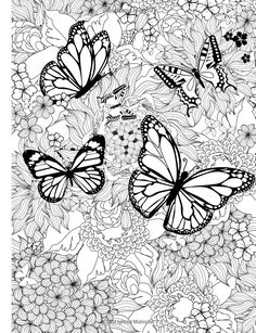 Adult Coloring Book: Butterflies and Flowers : Stress Relieving Patterns (Volume 7): Cherina Kohey: 9781516866748: Amazon.com: Books❤️