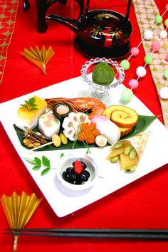 Japanese new year dish plating