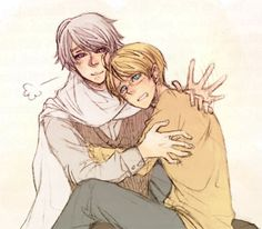 "Ask RusAme: ""Do you guys cuddle after watching films?"" - - - (""Only after horrors."") - by valzante - Hetalia - America / Russia"