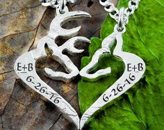 Buck and Doe Necklace Couples Necklaces Interlocking