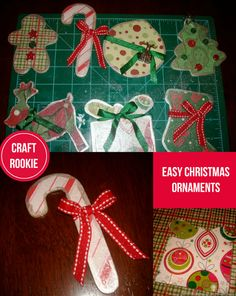 Craft Rookie: Easy Homemade Christmas Ornaments