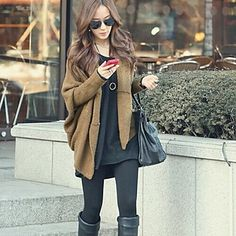Put on this Shawl Cape and hold a cup of coffee. Like a Hollywood star right?