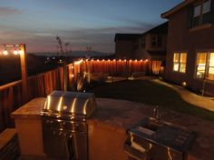 Outdoor Bar, Fire Pit, and Mini Vineyard