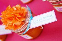 """""""From our shower to yours"""" Sugar Scrub baby shower favours"""